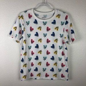 Uniqlo SPRZ NY Keith Haring Heart Face Shirt